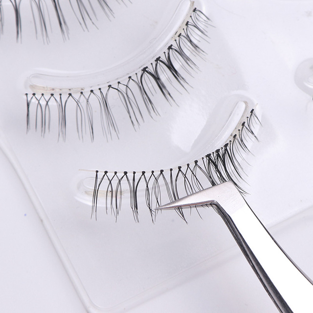 STZ 1pcs Stainless Steel Eyelash Extension Tweezers Straight Curved Curler For Eyelash-false Clip Makeup Nail Art Tools S01-05 5