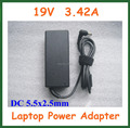 2pcs 19V 3.42A Laptop Power Supply Adapter for Lenovo Asus Toshiba Benq Notebook Charger DC 5.5x2.5mm