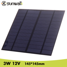 лучшая цена 3W 12V DIY Solar Cell 145*145mm 250mAh Polycrystalline PET + EVA Laminated Mini Solar Panel for Solar Systemt and Education