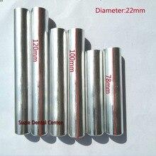 100 قطعة مختبر الأسنان جديد الألومنيوم خرطوشة قطر 22 مللي متر مع غطاء مختبر مرنة الاكريليك أسنان حقن الاكريليك العمل طول 120 مللي متر