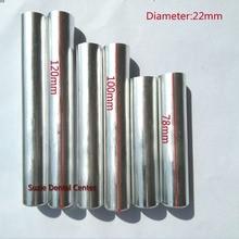 Cartouche en aluminium pour laboratoire dentaire, 100 pièces, diamètre de travail 120mm, avec couvercle, Flexible, injection de dentier, acrylique