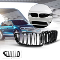 New Arrival 1Pair Dual Slat Gloss Black Front Kidney Grill Grille Direct bolt on Design for BMW F32 F33 F36 F82