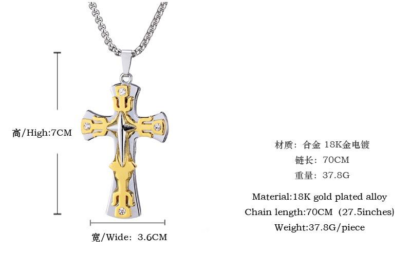 Aliexpress Buy Fashion Chrome Cross Symbol Bible Scripture