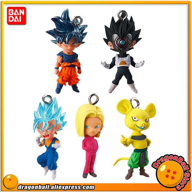 "Japão Anime ""Dragon Ball Super"" Original BANDAI Gashapon Toy PVC Figure UDM THE BEST 27-Conjunto de pcs 5 Goku Vegeta Vegetto No. 18"