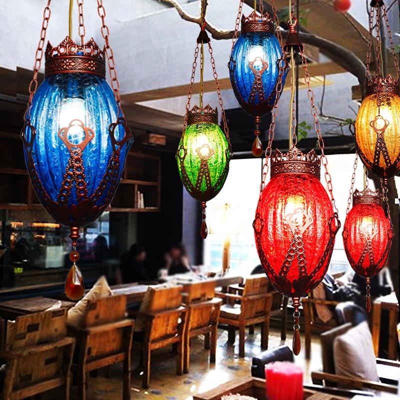 Characteristic Mysterious Folk-custom Pendant Lamp Mediterranean Sea Glass Shackle Pendant Light monsters of folk monsters of folk monsters of folk
