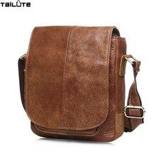 TAILUTE Luxus 100% männer des Echten Leders Beutelrind Haut Männer Umhängetasche Aktentasche hohe qualität männer messenger bags handtaschen