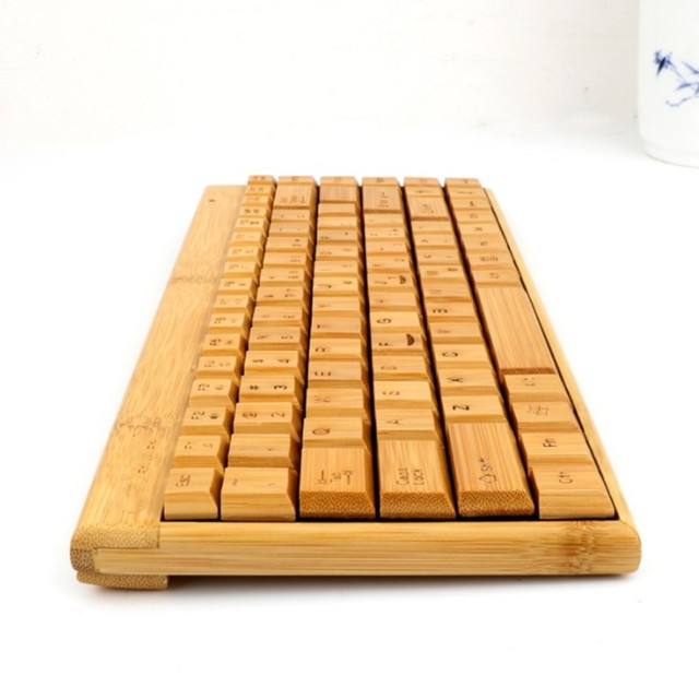 clavier en bambou