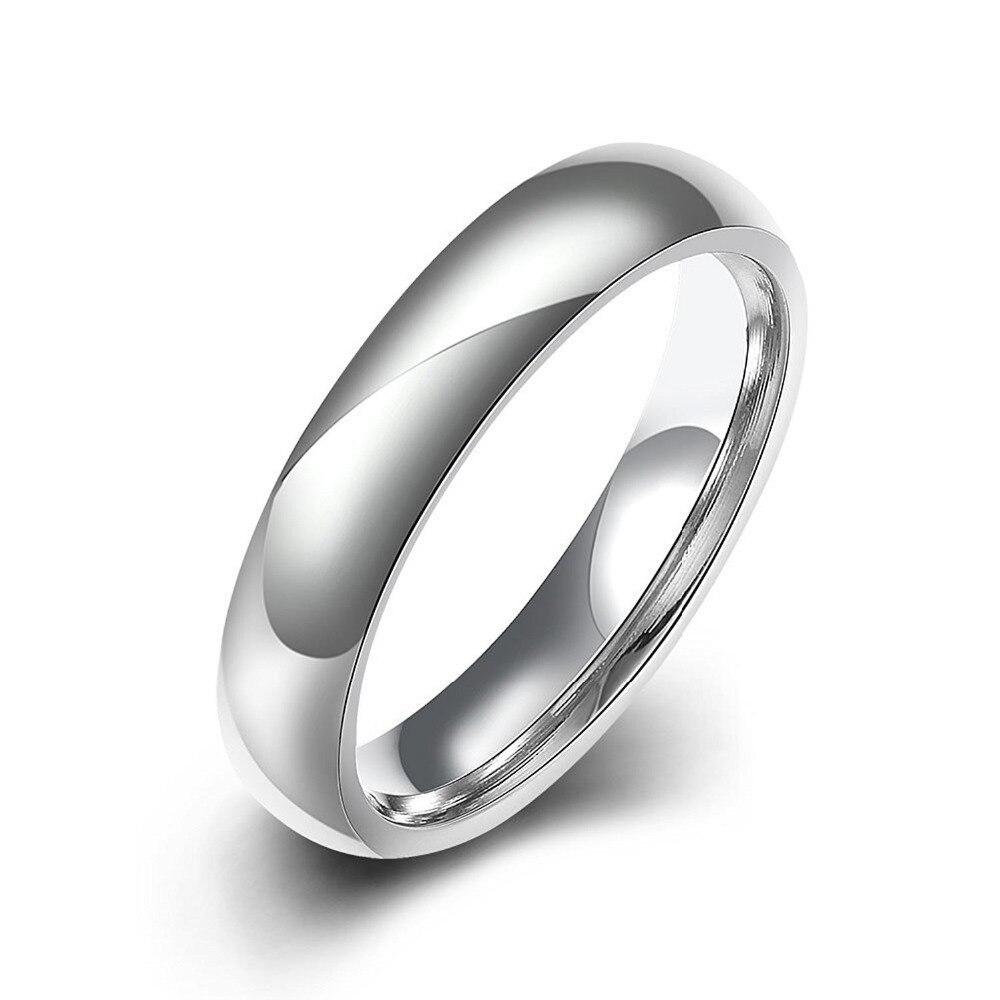 Newarmery anillo de moda con forma redonda de metal de acero inoxidable en color gris para hombre y mujer de belleza y joyas