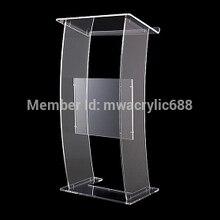 Современный Дизайн Дешевый Прозрачный Прозрачная акриловая Трибуна