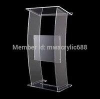 무료 배송 현대 디자인 싸구려 투명 아크릴 lectern