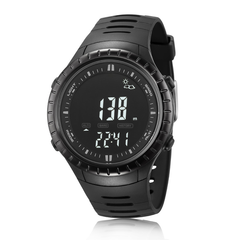 NORTHEDGE digital watches Men watch outdoor fishing electronic altimeter barometer thermometer altitude climbing hiking hours  foxguider fx702b outdoor fishing barometer altimeter tracking gear digital watch silver white