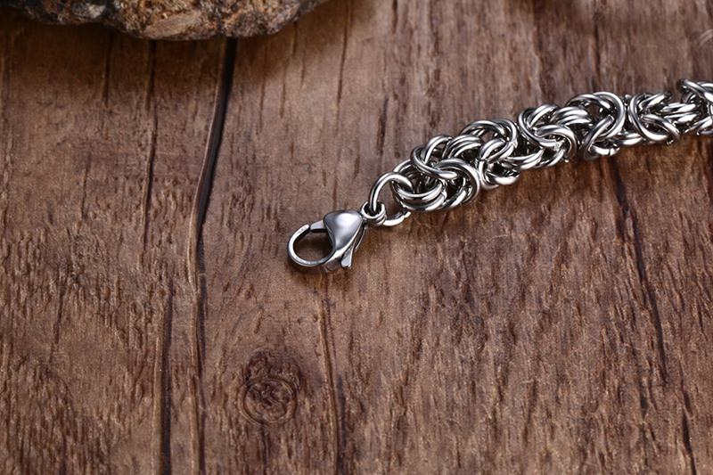Meaeguet Fashion Stainless Steel O Chain Strand Bracelets & Bangles Vintage Sliver Color Bracelet For Men's Jewelry (13)