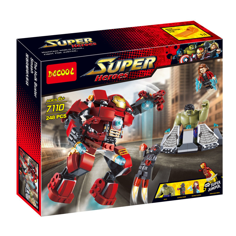 Super Heroes decool 7110 Avengers 2 Age Of Ultron Big Ironman Building Blocks bricks baby toys gift Compatible with SY357/XH8019