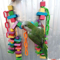 Parrot Toy Colurful Rainbow Bridge Chewing Hanging Toy Parrot Nest Suitable For A Wide Variety Of
