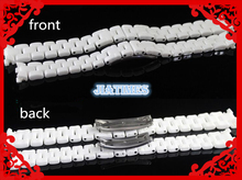 Бесплатная Доставка 1 шт. Высокое Качество Керамический Белый Замена Ремешок Браслет. Группа Для J12 Часы леди 16 мм размер