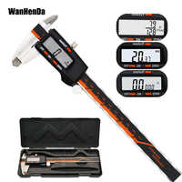 """Stainless Steel Digital Display Caliper 6 """"150mm Fraction/MM/Inch High Precision LCD Vernier Caliper Measuring tools Gauges"""