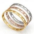 Plata Pulsera de Oro Hombres Mujeres Parejas de Acero Inoxidable Talla Números Romanos Amante Pun ¢ O de la Joyería de la Boda Pulseras D0138