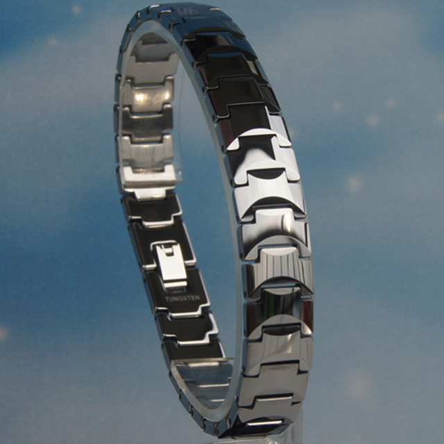 12mm 81g Men classic hi-tech scratch proof tungsten bracelet