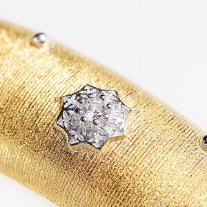 Image 5 - CMajor pulsera de plata de ley con estrellas brillantes, brazalete de lujo, Estilo Vintage, palaciego, 13mm de ancho, dos tonos