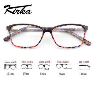 Image 3 - Kirka óculos ópticos feminino óculos quadros óculos para mulher leopardo impressão prescrição óculos quadro