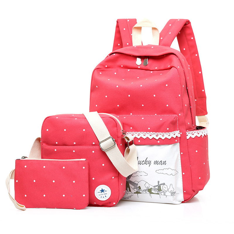 2017 Printing School Bags For teenagers Girls 2017 Fashion Women Canvas Backpack Cute Student Travel Bags