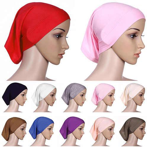 المرأة الإسلامية مسلم وشاح الرأس القطن غطاء الحجاب غطاء الرأس بونيه 6YOB