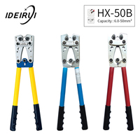 Steel HX 50B Wire Terminal Crimping Tool Cable Lug Crimper Hand Ratchet Terminal Ratchet Electrician Plier AWG1 10