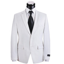 Men's suit jacket handsome white wedding the groom's best man coat high quality custom business casual jackets