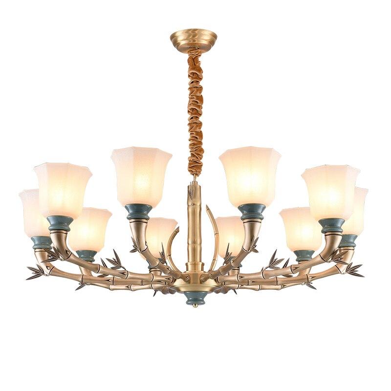 Full Bronze Copper Chandelier light American Modern for Bedroom Dining Living Room with Ceramics Luxury hanging light Fixtures chandelier lighting copper chandelier bronze chandelier lighting - title=