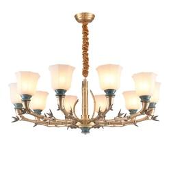 Pełna brązowy miedziany żyrandol światła amerykański nowoczesny do sypialni jadalnia salon z ceramiki luksusowe wisząca lampa oprawy