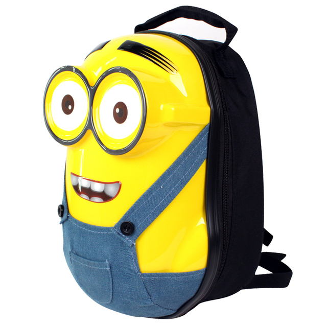 b9b445aa303 13 Inch 3D Minions School Bags Cartoon Minion Hard Shell Backpack ABS+PC School  Bag Despicable Me Kids Backpack Children Gifts
