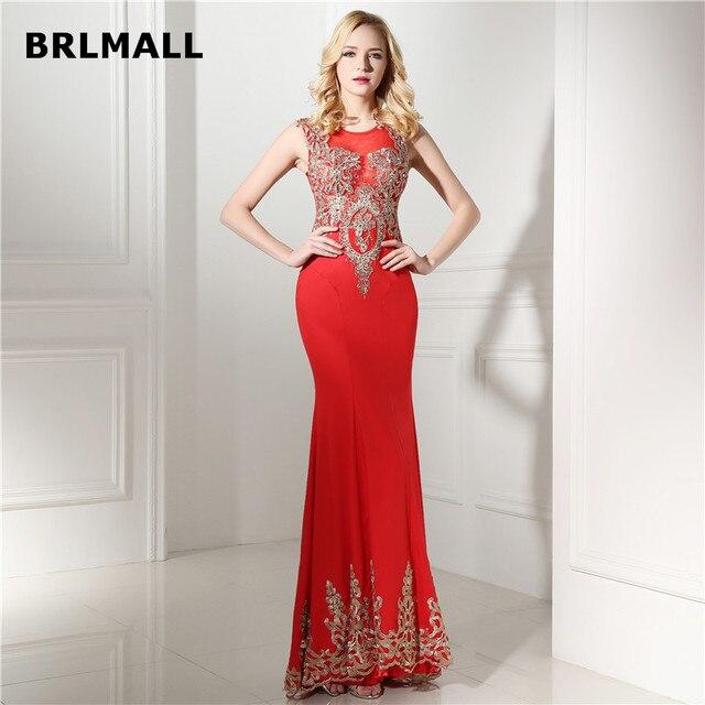 2018 Sexy Mermaid Evening Dresses Vintage Red Custom Made Satin