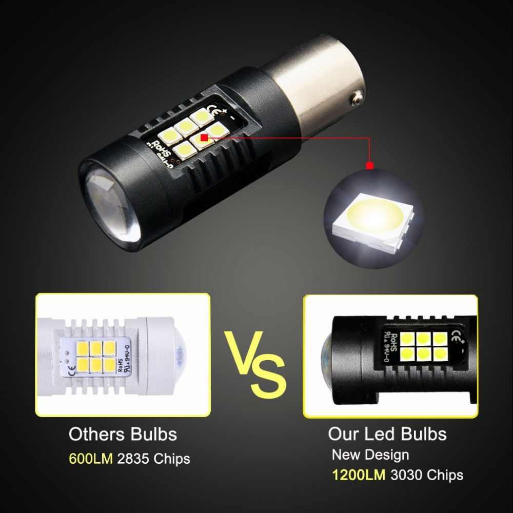 2 шт. 1156 BA15S P21W светодиодный BAU15S PY21W BAY15D светодиодный лампы 1157 P21/5 Вт R5W 21 шт. 3030SMD автомобильные лампы накаливания автомобиля светодиодный свет 12 V-24 V