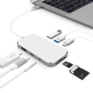 Amkle 7 в 1 USB C USB-C концентратор с Тип C Мощность доставки 4 К видео HDMI SD /TF Card Reader USB хаб для MacBook Pro концентратор сплиттеры aliexpress алиэкспресс goods лучшие популярные товары заказать почтой купить китая бесплатной доставкой дешевые shopping 2020
