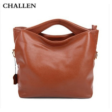 Female England Style Cow Leather fashion handbags Portable shoulder messenger bag dumpling bag woman