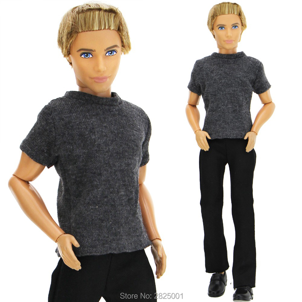 Handmade Outfit Cool Casual Wear Short Sleeves Shirt Pants Trousers Summer Costume Clothes For Barbie Ken Doll Accessories Toy