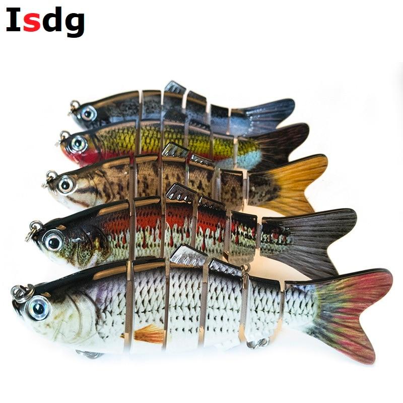 1PCS Fishing Wobblers Lifelike Fishing Lure 6 Segment Swimbait Crankbait Hard Bait Slow 10cm 17g Isca Artificial Lures