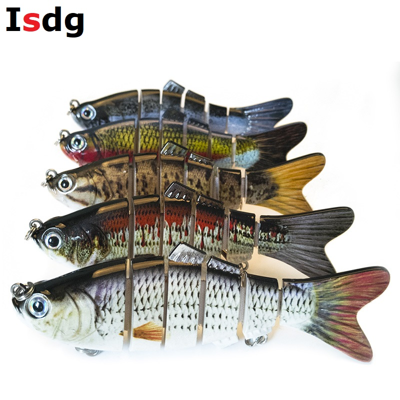 1PCS Fishing Wobblers Lifelike Fishing Lure 6 Segment Swimbait Crankbait Hard Bait Slow 10cm 17g Isca Artificial Lures