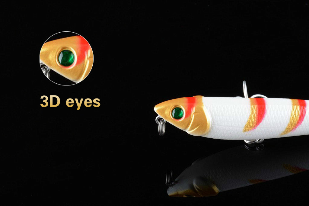 1Pcs 8 8cm 10 2g Stripe Metal Jigging Lead Alloy Fishing Lure 3D Eyes Artificial Sea Fishing Paillette Wobbler Metal Hard Baits in Fishing Lures from Sports Entertainment