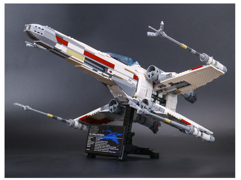 05039 LEPIN STAR WARS Red Five X-Wing Starfighter Model Building Blocks Enlighten DIY Figure Toys For Children Compatible Legoe lepin 05035 star wars death star limited edition model building kit millenniums blocks puzzle compatible legoed 75159