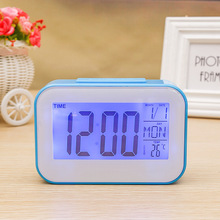 The New Candy color creative digital mute small alarm clock luminous electronic student dormitory lazy bedside