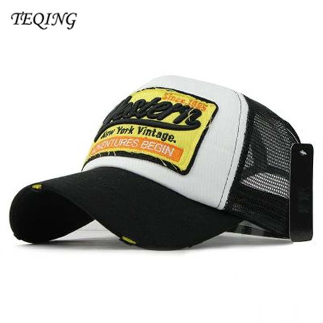 70f43c2a141c2 Online Shop TEQING 2017 New Arrival Autumn s Men Women Casual Baseball Hat  Letter Western New York Vintage Peaked Caps Multicolor Optional