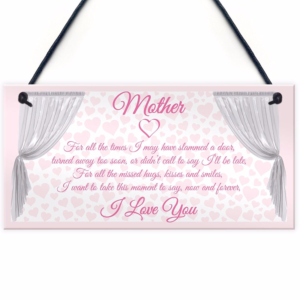 Plaques & Signs Helpful Meijiafei I Smile Because Youre My Mum Plaque Sign Cute Novelty Mothers Day Birthday Gift 10x5
