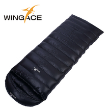 WINGACE Fill 4000G Duck Down Sleeping Bag Winter 95% Down Climbing Travel Outdoor Camping Warm Envelope Sleeping Bag Adult wingace winter sleeping bag adult filling 4000g duck down warm mummy outdoor camping duck down sleeping bags uyku tulumu