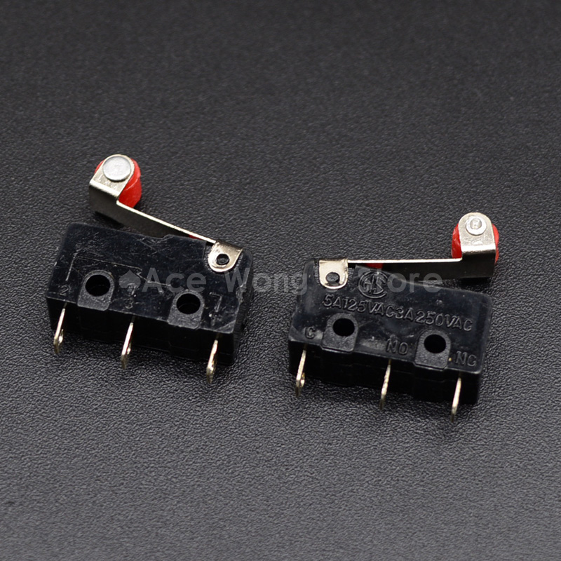 10PCS Limit Switch, Roller Lever 3 Pin N/O N/C High quality All New 5A 125VAC Micro Switch short