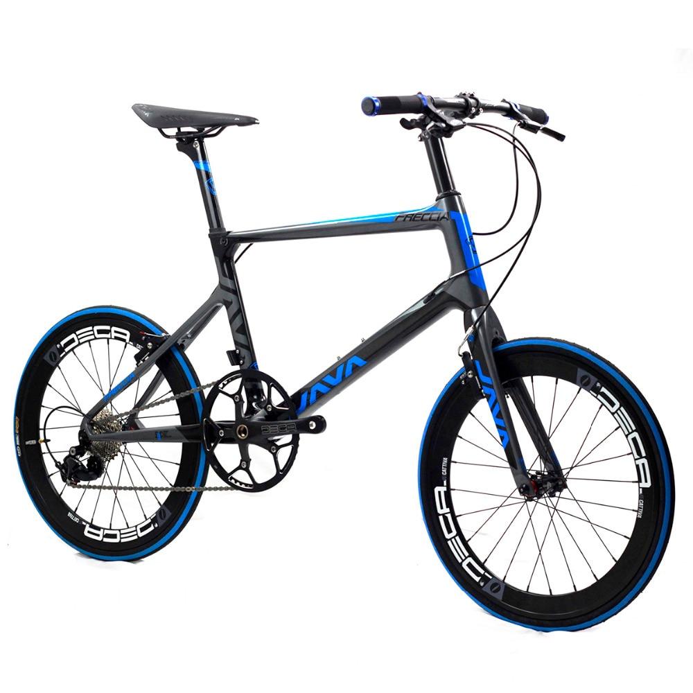 """JAVA Freccia Carbon Minivelo Bike 20"""" 1 1/8"""" 451 11 Speed with Aero Direct Mount V Brake Urban Mini velo Bicycle"""