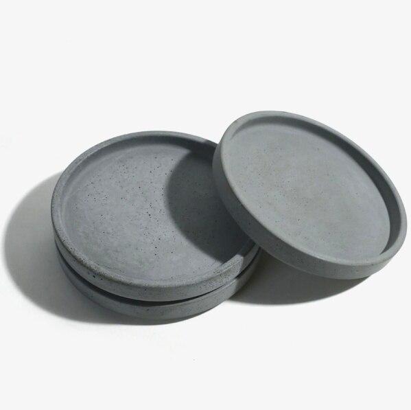 실리카 젤 실리콘 금형 라운드 시멘트 플레이트 컵 과일 접시 물 콘크리트 접시 수제 금형