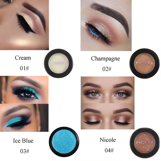 PHOERA 24 Clors 2018 Cosmetic Eye Shadow Palette Glitter Shimmer Powder Natural Pigment Eyes Makeup Cosmetic TSLM2 1