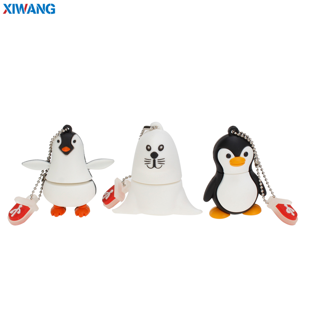 New Usb Flash Drive 32GB Pendrive 64GB Cartoon Lovely Penguin Seal 128GB 16GB 8GB Pen Drive Usb Flash Memory Stick Free Shipping