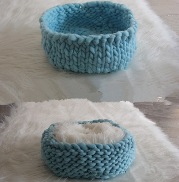2017 new best cocoon Chunky Knit Cocoon Nest Pod Photography Prop Handmade Woven Basket Newborn Baby Infant Boat Box